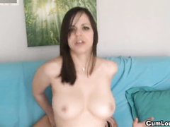 Beautiful brunette is skilled dick sucker