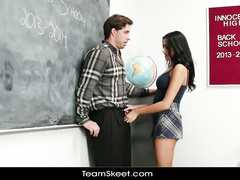 Amazingly hot surprise for young teacher