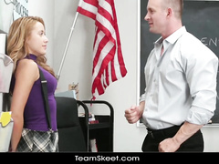 Blonde was afraid from being punished and got fucked up