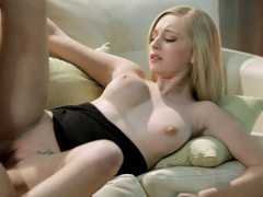 Blonde beauty sucks and titjobs big tight dick