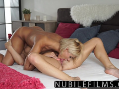 Impressive hot blonde blonde lesbians are hotly licking off in rather poses