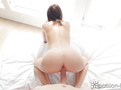 Appetizing hot brunette Dakota Skye gets pleased with cunnilingus and rough fuck