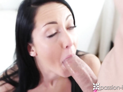 Precious brunette Sabrina Banks got caught stroking pussy and fucked up hard